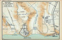 ROVINE DI SELINUNTE MINI PIANTINA CARTOGRAFIA T.C.I. 1953 - Carte Geographique
