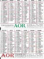 CAL003 - CALENDARIETTO 2015 - TIPOGRAFIA AOR - TRENTO