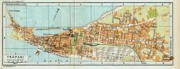 TRAPANI MINI PIANTINA CARTOGRAFIA T.C.I. 1953 - Carte Geographique