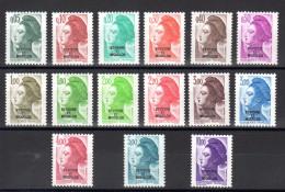 """(A La Faciale = 5.15 €) SPM 1986 : Série Complète Neuve ** """" LIBERTE DE GANDON """" N° YT 455 à 469. """" Parfait état ! - Collections, Lots & Séries"""