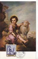 Spanien/España, Ersttagsbrief-Ersttagsansichtskarte/FDC-FDCard, El Buen Pastor/Murillo - 1960, Siehe Scan + *) - FDC