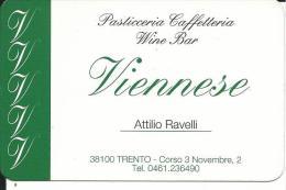 CAL536 - CALENDARIETTO 2009 - PASTICCERIA VIENNESE - PROSECCO COLESEL - TRENTO