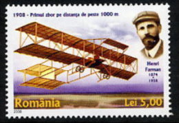 ROMANIA 2008 Henri Farman Flight Centenary  MNH / **.  Michel 6268 - 1948-.... Republics
