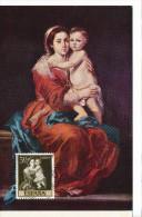 Spanien/España, Ersttagsbrief-Ersttagsansichtskarte/FDC-FDCard, La Virgen Del Rosario/Murillo - 1960, Siehe Scan + *) - FDC