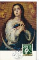 Spanien/España, Ersttagsbrief-Ersttagsansichtskarte/FDC-FDCard, La Concepcion/Murillo - 1960, Siehe Scan + *) - FDC
