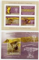 ROMANIA 2006 Trajan Vuia Blocks  MNH / **.  Michel Blocks 370-71 - 1948-.... Republics