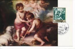 Spanien/España, Ersttagsbrief-Ersttagsansichtskarte/FDC-FDCard, Los Niños De La Concha/Morillo - 1960, Siehe Scan + *) - FDC