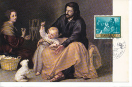 Spanien/España, Ersttagsbrief-Ersttagsansichtskarte/FDC-FDCard, La Sagrada Familia Del Pajarito/Morillo - 1960, Siehe Sc - FDC