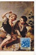 Spanien/España, Ersttagsbrief-Ersttagsansichtskarte/FDC-FDCard, Niños Comiendo Pasteles/Murillo - 1960, Siehe Scan + *) - FDC
