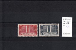 FRANCE YT 316/317  NEUF XX   VIMY - France