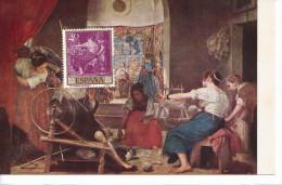 Spanien/España, Ersttagsbrief-Ersttagsansichtskarte/FDC-FDCard, Las Hilanderas/Velazquez - 1959, Siehe Scan + *) - FDC