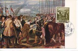 Spanien/España, Ersttagsbrief-Ersttagsansichtskarte/FDC-FDCard, La Rendicion De Breda/Velazquez - 1959, Siehe Scan + *) - FDC