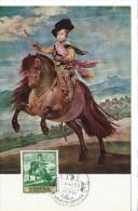 Spanien/España, Ersttagsbrief-Ersttagsansichtskarte/FDC-FDCard, El Principe Baltasar Carlos/Velazquez - 1959, Siehe Scan - FDC