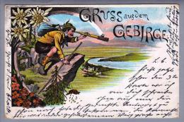 Motiv Gruss Aus Dem Gebirge 1900-02-15 Litho #511 - Souvenir De...