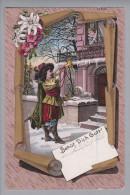"""Motiv Gruss """"Behüt Dich Gott"""" 1898-09-18 Litho # 639 Trompeter - Souvenir De..."""