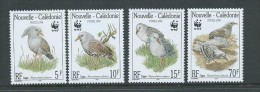 New Caladonia 1998 WWF Kagu Bird Set 4 MNH - New Caledonia