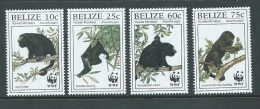 Belize 1997 WWF Monkey Set MNH - Belize (1973-...)