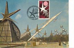 Spanien/España, Ersttagsbrief-Ersttagsansichtskarte/FDC-FDCard, Weltausstellung In Brüssel - 1958, Siehe Scan + *) - FDC