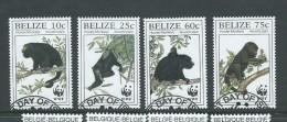 Belize 1997 WWF Monkey Set VFU - Belize (1973-...)
