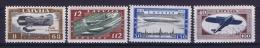 Latvia Lettland: Mi Nr 228 A - 231 A   MH/*   1933 Airmail - Lettland