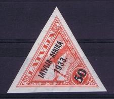 Latvia Lettland: Mi Nr 223   MH/*   1933 Airmail AFRIKA Signed/ Signé/signiert BEHRENS - Lettland