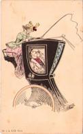 Les Aventures D´une Femme-cocher - Série De 4 Carrtes - Antes 1900