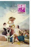 Spanien/España, Ersttagsbrief-Ersttagsansichtskarte/FDC-FDCard, La Vendimia/Goya - 1958, Siehe Scan + *) - FDC
