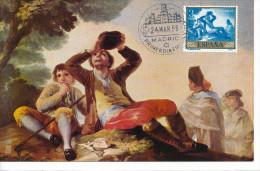 Spanien/España, Ersttagsbrief-Ersttagsansichtskarte/FDC-FDCard, El Bebedor/Goya - 1958, Siehe Scan + *) - FDC