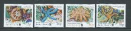 British Indian Ocean Territory 2001 WWF Starfish Set 4 MNH - British Indian Ocean Territory (BIOT)