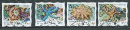 British Indian Ocean Territory 2001 WWF Starfish Set 4 VFU - British Indian Ocean Territory (BIOT)