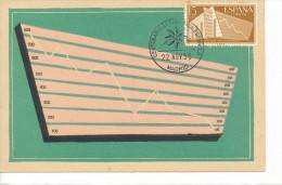 Spanien/España, Ersttagsbrief-Ersttagsansichtskarte/FDC-FDCard, Centenario De La Estatistica - 1956, Siehe Scan + *) - FDC