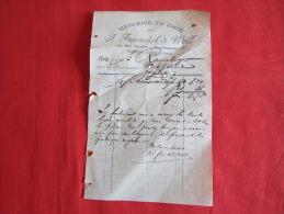 MERCERIE EN GROS J. FRAENCKEL & WEILL À STRASBOURB (67000). FACTURE DE 1897. JUDAICA ?. - 1800 – 1899