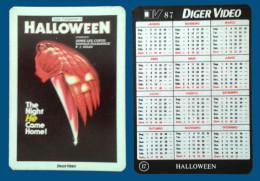 Pocket calendar - Calendrier de poche -S�rie Film - publi� au Portugal - ann�e:1987 - HOLLOWEEN
