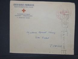 """FRANCE- Enveloppe A Entete Obl De Alger Pour La Tunisie + Cachet """" Croix Rouge Recherche Alger"""" 1943  LOT P5520 - Cruz Roja"""