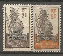 GABON - Yv N°  89 ,91  *  2c,5c  Guerrier Cote  1 Euro  BE - Nuevos