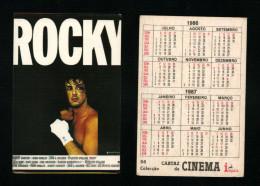 Pocket calendar - Calendrier de poche - s�rie Film - publi� au Portugal - ann�e:1986 - ROCKY