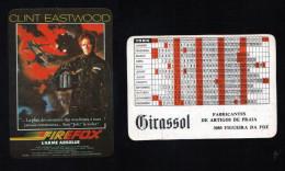 Pocket calendar - Calendrier de poche - s�rie Film - publi� au Portugal - ann�e:1986 -FIREFOX