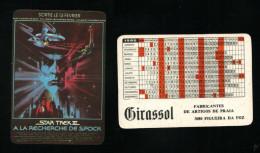 Pocket calendar - Calendrier de poche - s�rie Film - publi� au Portugal - ann�e:1986 - STAR TREK III