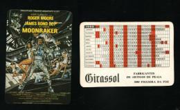 Pocket calendar - Calendrier de poche - s�rie Film - publi� au Portugal - ann�e:1986 - MOONRAKER