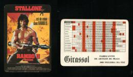 Pocket calendar - Calendrier de poche - s�rie Film - publi� au Portugal - ann�e:1986 - RAMBO ll
