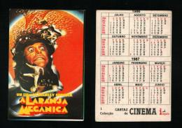 Pocket calendar - Calendrier de poche - s�rie Film - publi� au Portugal - ann�e:1986 - A LARANJA MECANICA