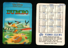 Pocket calendar - Calendrier de poche - s�rie Film - publi� au Portugal - ann�e:1989 - DUMBO