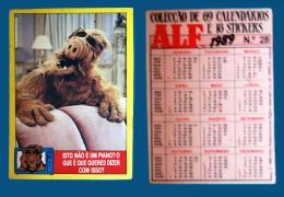 Pocket calendar - Calendrier de poche - s�rie Film - publi� au Portugal - ann�e:1989 - ALF