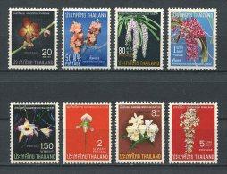 THAILANDE 1967 N° 470/477 ** Neufs  = MNH  Superbes Cote 85 € Flore Fleurs Orchidées Flowers Flora Nature - Thailand