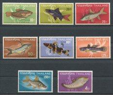 THAILANDE 1968 N° 490/497 ** Neufs  = MNH  Superbes Cote 90 € Faune Marine Poissons Fishes Fauna Animaux - Thailand