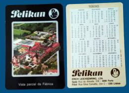 Pocket calendar - Calendrier de poche - S�rie Publicit� - publi� au Portugal - ann�e:1986 - PELIKAN