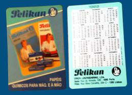 Pocket calendar - Calendrier de poche - S�rie Publicit� - publi� au Portugal - ann�e:1989 - PELIKAN