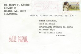 UNITED STATES - LETTER REGISTERED MAIL POUR PORTUGAL - MARCOPHILIE - CACHET BRISTOL19-09-1992 - United States