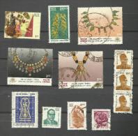 Inde N°1562,1564,1565,1568,1569,1578,1594,1596,1634,1680 Cote 3.05 Euros - India