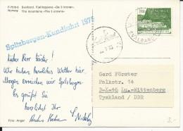 """NORVEGE - 1975 - POLAIRE - CARTE Avec CACHET MARITIME De La CROISIERE """"SPITZBERGEN""""de SVALBARD - Briefe U. Dokumente"""